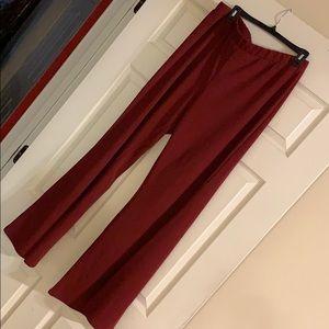 PLUS SIZE BELL BOTTOM PANTS W/open slits